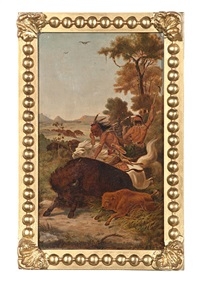 buffalo hunt (after charles wimar) by matthew hastings