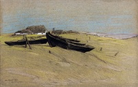hiddensee. boote am strand by maria ressel