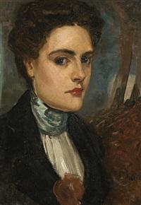 portrait of the artist's wife, jeanne morel by rupert bunny