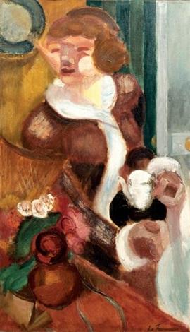 jeune femme à la théière by henri le fauconnier