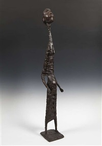 girl standing (a.k.a. elongated figure) by frederick edward mcwilliam