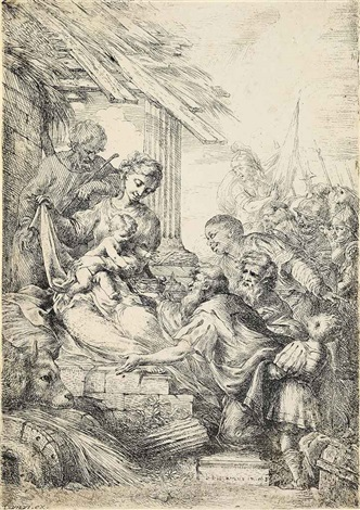 adoration of the magi the virgin adoring the infant christ with saint joseph 2 works by bartolomeo biscaino