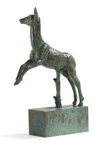 leaping deer by carl (wilhelm emile) milles