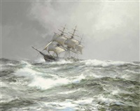 atlantic packet - the devonshire by montague dawson