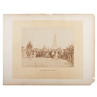 the dedication of the monument on bull run battlefield, june 1865 by alexander gardner
