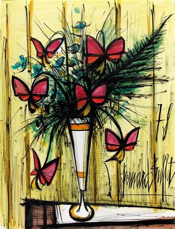fleurs papillon by bernard buffet