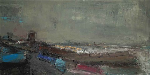 boats and the harbour by joan kathleen harding eardley
