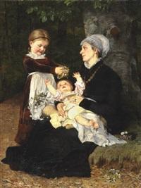 A wet nurse's visit, 1878