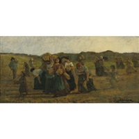 le rappel des glaneuses - the recall of the gleaners (study) by jules breton