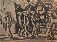 picket line by herman roderick volz