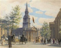 the national portrait gallery and st. martin's-in-the-fields by w.h. simpson