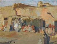 marrakech: un potier, février by jean dulac