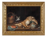 natura morta con gatto by flemish school (18)