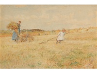 gathering hay by lionel percy smythe