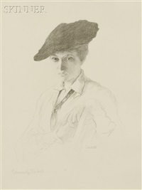 portrait of mary tarbell by edmund charles tarbell