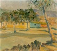 view with houses by erato asprogeraka