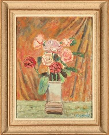 kwiaty w wazonie by czeslaw rzepinski