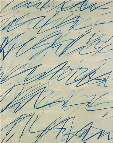 roman notes plate i by cy twombly