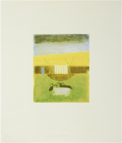 sheep at tullialan by craigie aitchison