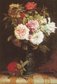 a bouquet of roses by martial hupe