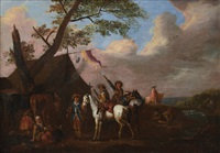 accampamento di soldati by philips wouwerman