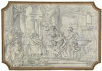 alexander der große im tempel von jerusalem by sebastiano conca