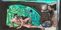 männerakt (nr. 2) by holger bunk