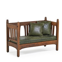 rare settle by gustav stickley