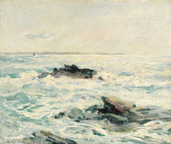 mer sous le soleil quiberon morbihan by maxime maufra