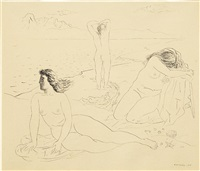 untitled (three figures) by mario carreño
