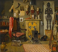 the artist's studio by henry stacy marks