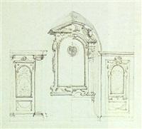 eine altarnische mit seitlichen fenstern by mauro antonio (maurino) tesi
