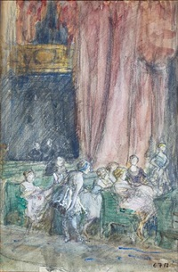 theatre audience by eleanor fortescue-brickdale