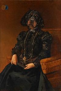 portrait à tête de chien by thierry poncelet
