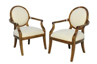 oval back chairs (pair) by kreiss furnishings