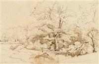 gorges d'apremont by théodore claude félix caruelle d' aligny