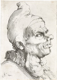 large grotesque head by jusepe de ribera