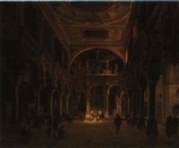 interno di chiesa by luigi querena