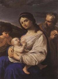 sacra famiglia con san giovannino by flaminio (dagli ancinelli) torri