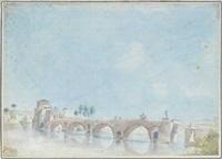 pont sur le tibre, vue de l'autre côté by alexis nicolas perignon the elder