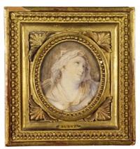 portrait de femme en vestale by louis françois aubry