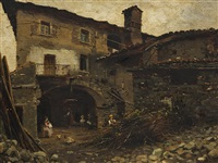 italian courtyard by silvio poma