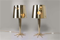coppia di lampade da tavolo lattea (pair) by roberto giulio rida