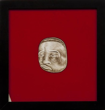 untitled brown head by barry mcgee
