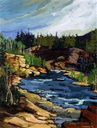 elbow river - late summer by frank vervoort