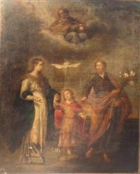 la sainte famille avec la trinité by giulio cesare angeli