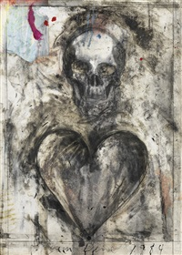 coeur et crâne by jim dine