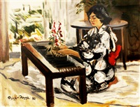japanese woman by federico aguilar alcuaz