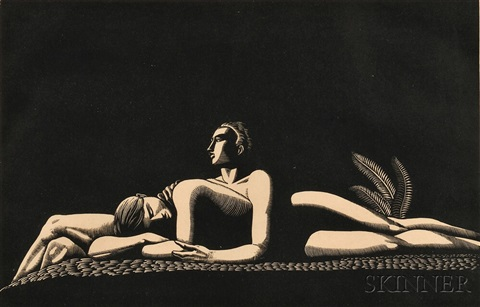 the lovers by rockwell kent