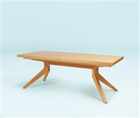 cross extension table oak veneers by matthew hilton